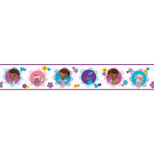 Doc Mcstuffins Home Decor York Wallcoverings Walt Disney Kids Ii Doc Mcstuffins U0026 Friends
