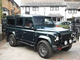 land rover metallic land rover defender bowler 110 xs station wagon bowler fast road