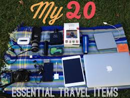travel items images My 20 essential travel items jpg