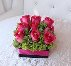 flowers in a box pink box in los angeles ca flamingo s flower