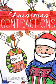 ugly christmas sweater contractions freebie contractions