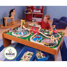 Lego Table Toys R Us Kidkraft Ride Around Town Train Table And Set 100 Piece