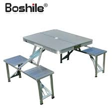 aluminum portable picnic table portable table with chairs high quality outdoor aluminum