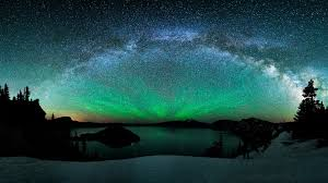 sky lake borealis aurora stars wallpaper hd black nature for hd