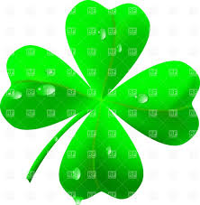 symbol of st patrick u0027s day four leaf clover shamrock vector
