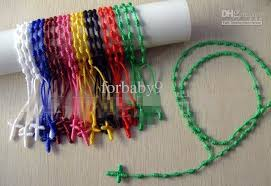 rosary twine 2017 religious knotted twine unisex knot rope rosary bracelet