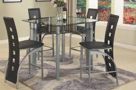 counter height dining room sets black metro 5 counter height set dining room sets