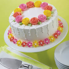 fanciful flowers cake wilton