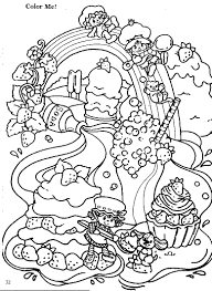 vintage strawberry shortcake coloring pages return to strawberry