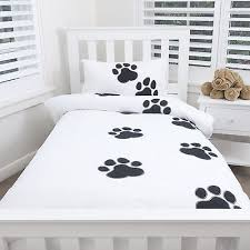 paw print sheets bed paw print doona cover w pillowcases quilt set dog animal