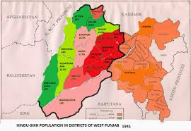 Punjab Map My Endeavour For Truth Hindu Buddhist Majority Areas Gifted To