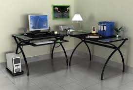 Computer Glass Desks For Home Corner Computer Desk Home Painting Ideas Throughout Glass Desk For