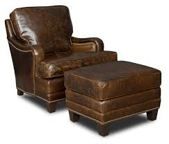 Most Confortable Chair Brown Leather Chair With Low Arm Rest Completed With Stool Also
