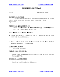Sample Resume For Engineering Freshers Cover Letter Of Mechanical Engineer Image Collections Cover