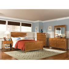Bedroom Furniture Dresser With Mirror by Trilogy Bedroom Bed Dresser U0026 Mirror Honey Queen 6414490
