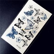 summer style butterfly designs waterproof temporary