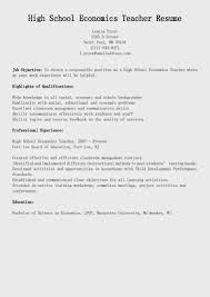Resume Template For Work Experience High Economics Teacher Resume Template Sample Displaying