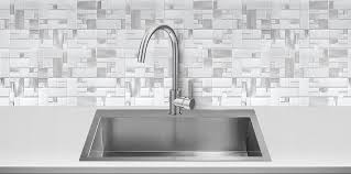 White Glass Metal MODERN BACKSPLASH TILE For Contemporary To - Metal kitchen backsplash
