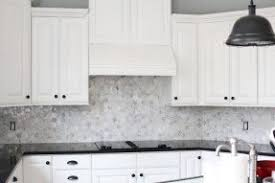 Marble Tile Backsplashes White Gray Custom Cut Marble Backsplash - Marble backsplash tiles