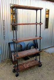 Industrial Bookcase Diy Diy This Industrial Office Shelving On Casters With Galvanized