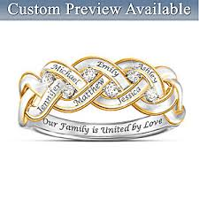 family ring womens ring strength of family personalized diamond ring