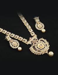 diamond long necklace images Buy designer american diamond long necklace set for women online jpeg