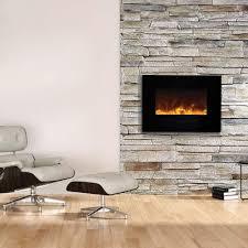 amantii 26 u2033 wall mount flush mount electric fireplace with black