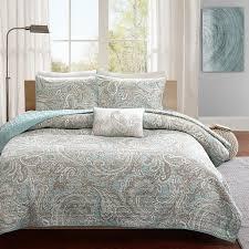 Paisley Comforter Sets Full Madison Park Pure Dermot 4 Piece Coverlet Set Blue 405 Pen