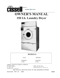 cissell c110e owner s manual