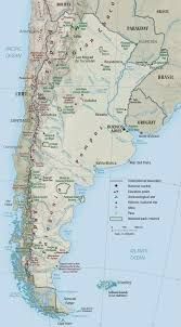 Physical Maps Physical Map Of Argentina