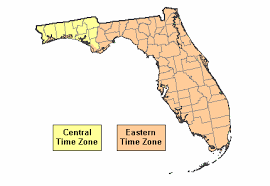 usa time zone map est current time in florida