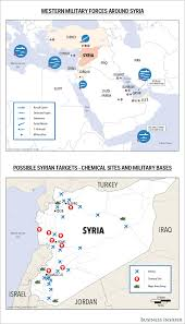 Map Of Syria And Surrounding Countries by Map Of Western Forces Near Syria Business Insider