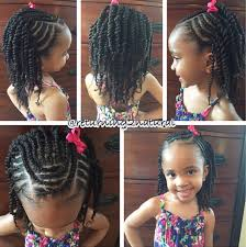 cornrows in front 2 strand twists in back for kids