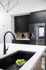 white sink black countertop white kitchen black sink kitchen design ideas