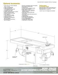 Recoil Table Small Animal Necropsy Table Mortech Manufacturing Company Inc