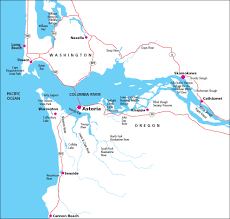 Astoria Oregon Map by Contact Clatsop Paddle Company At 503 791 9619