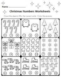 free preschool christmas numbers worksheets preschool crafts