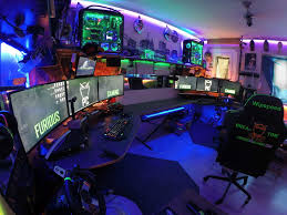 22 awesome gaming battlestations pc setups man cave mafia