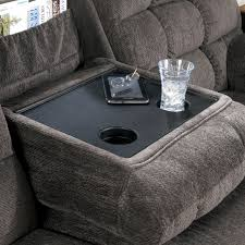 Sectional Sofas With Recliner by Reclining Sectional Sofa With Right Side Loveseat Cup Holders And