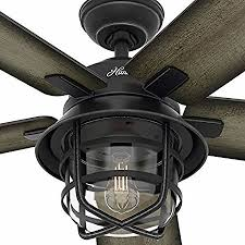 hunter 54 coral gables indoor outdoor fan hunter 54 coral gables reversible burnished gray pine blades remote