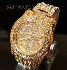 men gold tone bracelet images Men hip hop iced out gold tone techno pave bling simulated diamond jpg