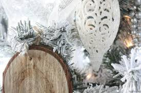 rustic glam office with diy wood slice ornaments