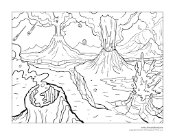 volcano coloring page coming of life pinterest volcano