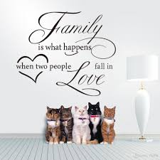 large size family and love vinyl art quotes removable wall decal