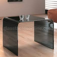 square glass end table smoked glass square side table by glass tables online