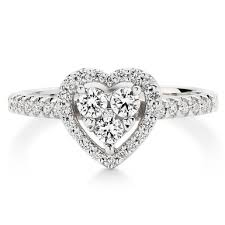 diamond heart ring 9ct white gold diamond heart ring 0012218 beaverbrooks the