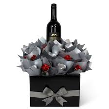 wine and chocolate gift basket chocolates wine bouquet gift baskets