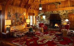decorations log cabin style with hunting living room also tribal