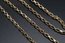 handmade chain necklace images Solid gold box chain handmade chain necklace 20 inches chain jpg