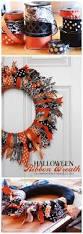 halloween home decor pinterest halloween wreath wreaths crafts fun diy and diy halloween